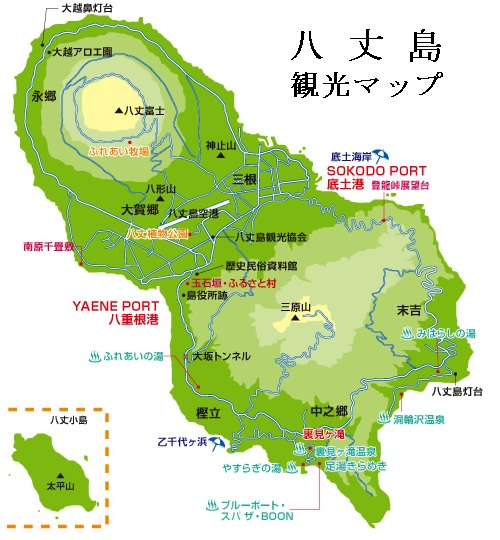 八丈島観光マップ